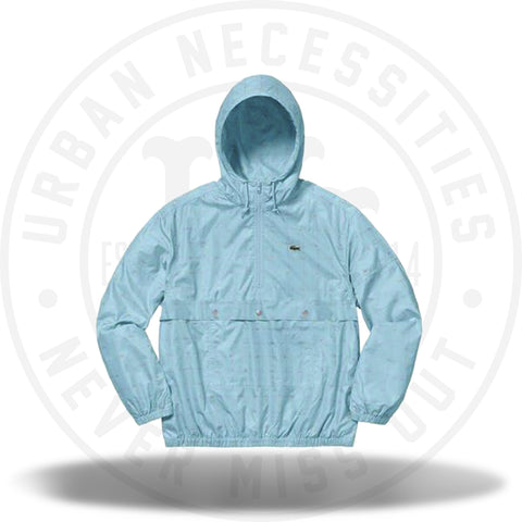 Supreme LACOSTE Reflective Grid Nylon Anorak Blue-Urban Necessities