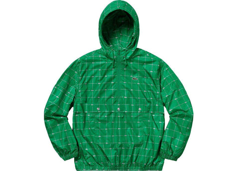 Supreme LACOSTE Reflective Grid Nylon Anorak Green-Urban Necessities