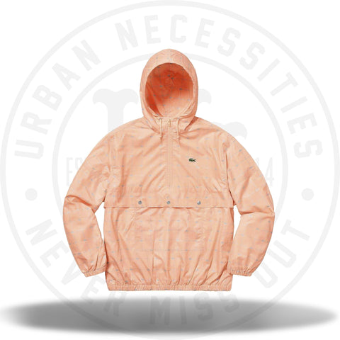 Supreme LACOSTE Reflective Grid Nylon Anorak Peach-Urban Necessities