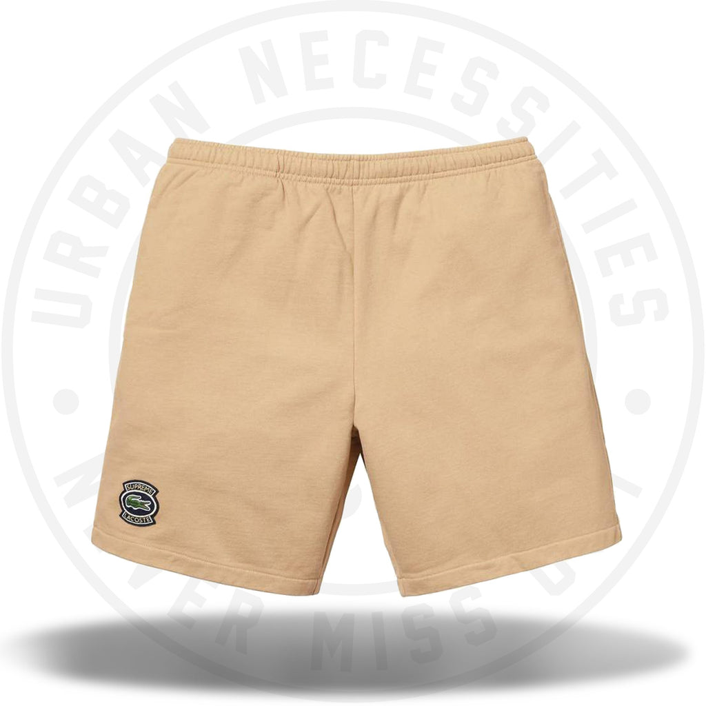 Supreme LACOSTE Sweatshort Light Brown-Urban Necessities