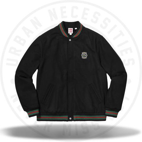 Supreme LACOSTE Wool Varsity Jacket Black-Urban Necessities