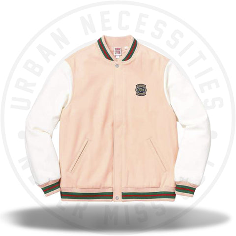 Supreme LACOSTE Wool Varsity Jacket Peach-Urban Necessities