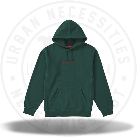 f72905cf3298 Supreme Le Luxe Hooded Sweatshirt Dark Green-Urban Necessities