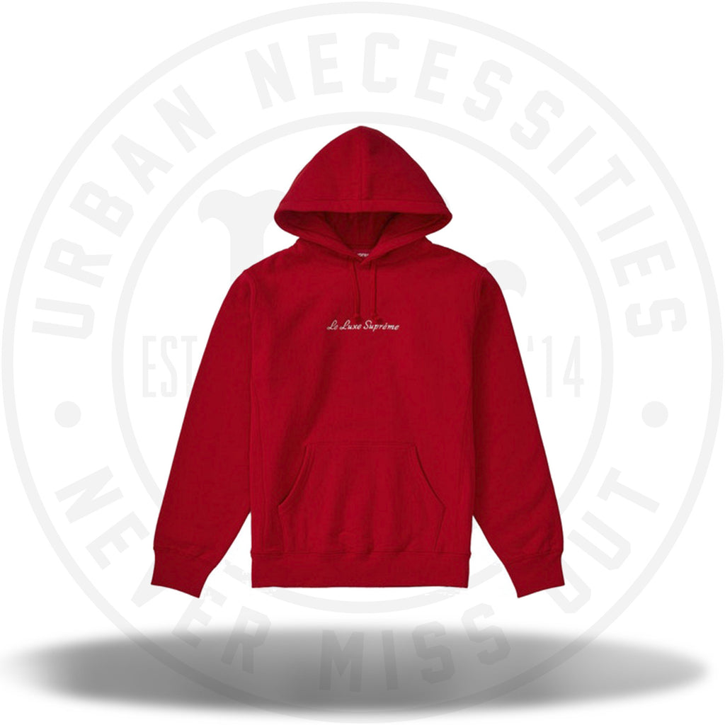 Supreme Le Luxe Hooded Sweatshirt Red-Urban Necessities
