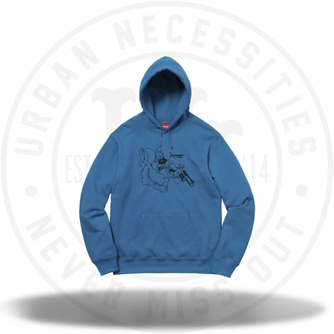 Supreme Lee Hooded Sweatshirt Dark Aqua-Urban Necessities