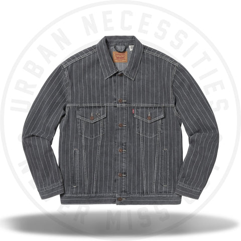 Supreme Levi's Pinstripe Trucker Jacket Black-Urban Necessities
