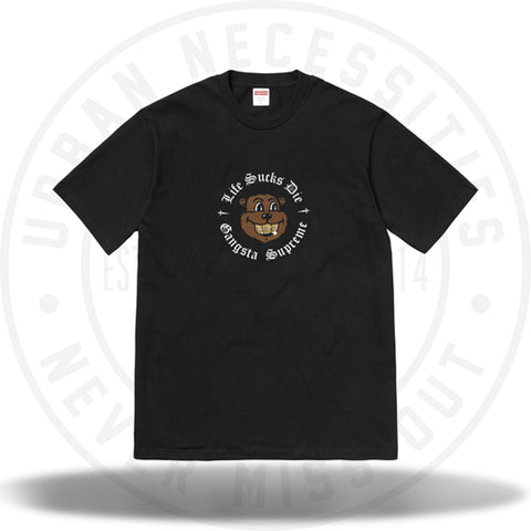 Supreme Life Sucks Die Tee Black (FW18)-Urban Necessities