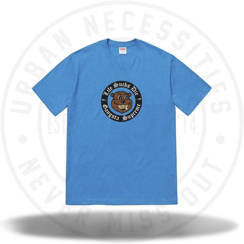 Supreme Life Sucks Die Tee Bright Blue-Urban Necessities