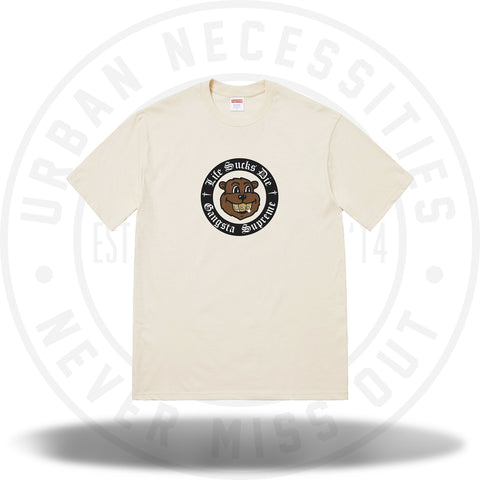 Supreme Life Sucks Die Tee Natural-Urban Necessities