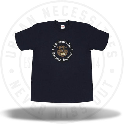 Supreme Life Sucks Die Tee Navy-Urban Necessities