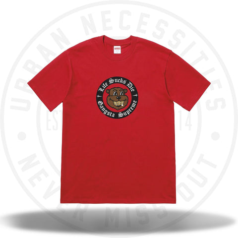 Supreme Life Sucks Die Tee Red (FW18)-Urban Necessities