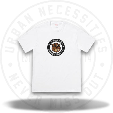 Supreme Life Sucks Die Tee White-Urban Necessities