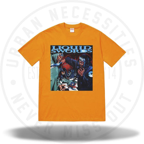 Supreme Liquid Swords Tee Bright Orange-Urban Necessities