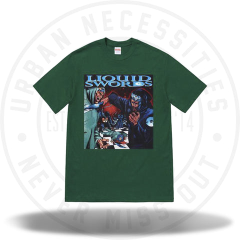 Supreme Liquid Swords Tee Dark Green-Urban Necessities
