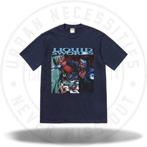 Supreme Liquid Swords Tee Navy-Urban Necessities