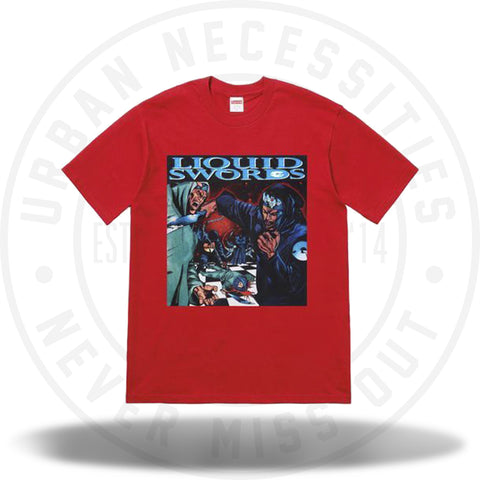 Supreme Liquid Swords Tee Red-Urban Necessities