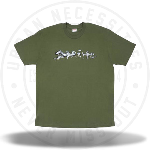 Supreme Liquid Tee Olive-Urban Necessities