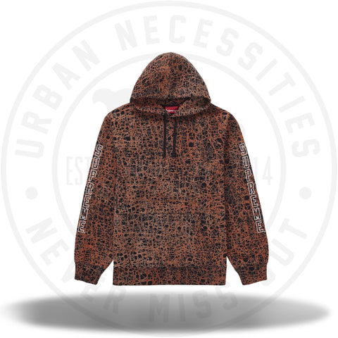 Supreme Marble Hooded Sweatshirt Orange-Urban Necessities