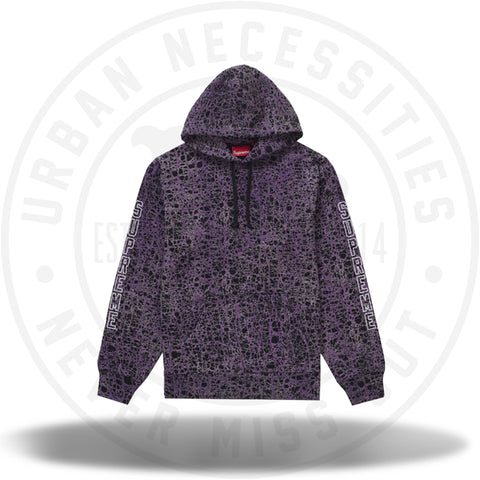 Supreme Marble Hooded Sweatshirt Purple-Urban Necessities