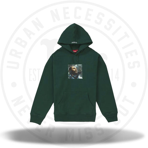 Supreme Marvin Gaye Hooded Sweatshirt Dark Green-Urban Necessities