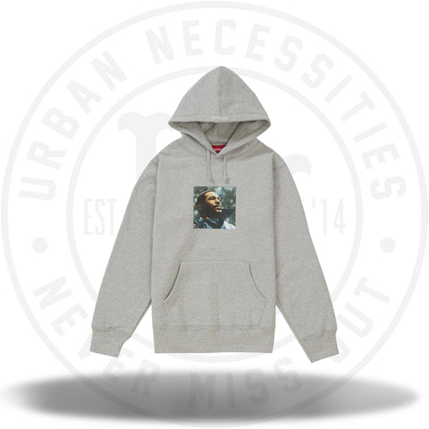 Supreme Marvin Gaye Hooded Sweatshirt Heather Grey-Urban Necessities