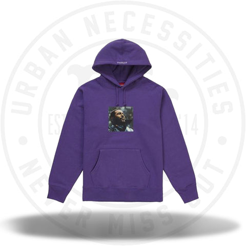Supreme Marvin Gaye Hooded Sweatshirt Violet-Urban Necessities