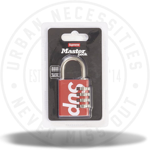 Supreme Masterlock Numeric Lock Red-Urban Necessities
