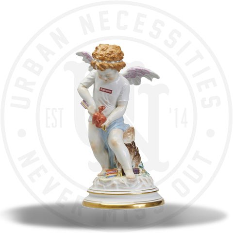 Supreme Meissen Hand-Painted Porcelain Cupid Figurine Multicolor-Urban Necessities