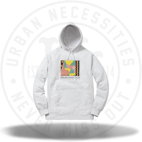 Supreme Mendini Hooded Sweatshirt Ash Grey-Urban Necessities