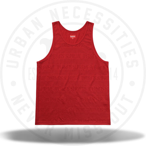 Supreme Mesh Stripe Tank Top Red-Urban Necessities