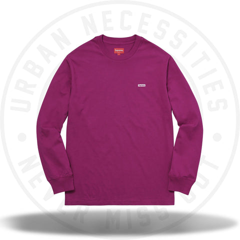 Supreme Metallic Box Logo L/S Tee Magenta-Urban Necessities