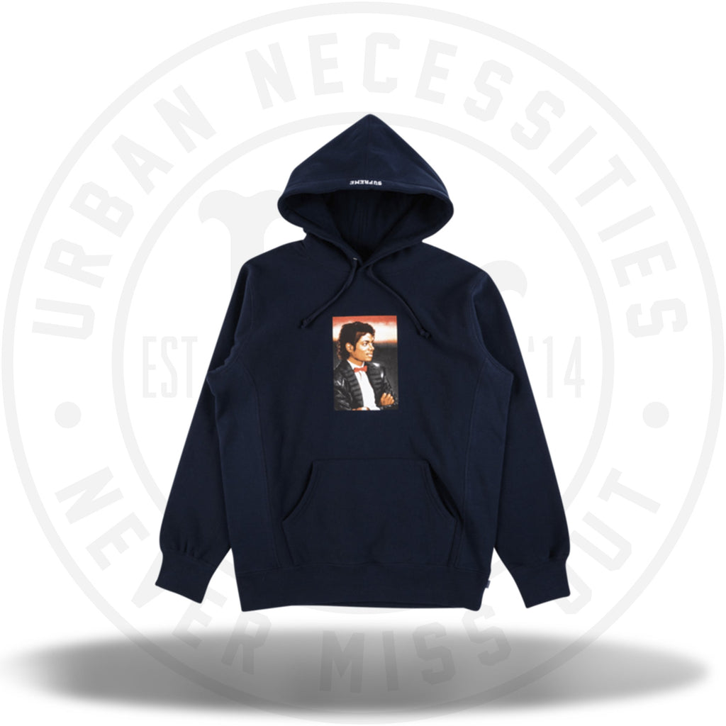 Supreme Michael Jackson Hooded Sweatshirt Navy-Urban Necessities