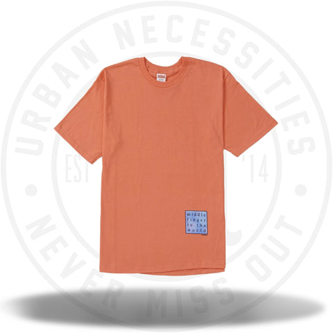 Supreme Middle Finger to the World Tee Neon Orange-Urban Necessities