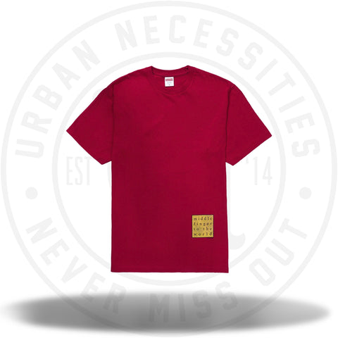 Supreme Middle Finger to the World Tee Red SS19-Urban Necessities