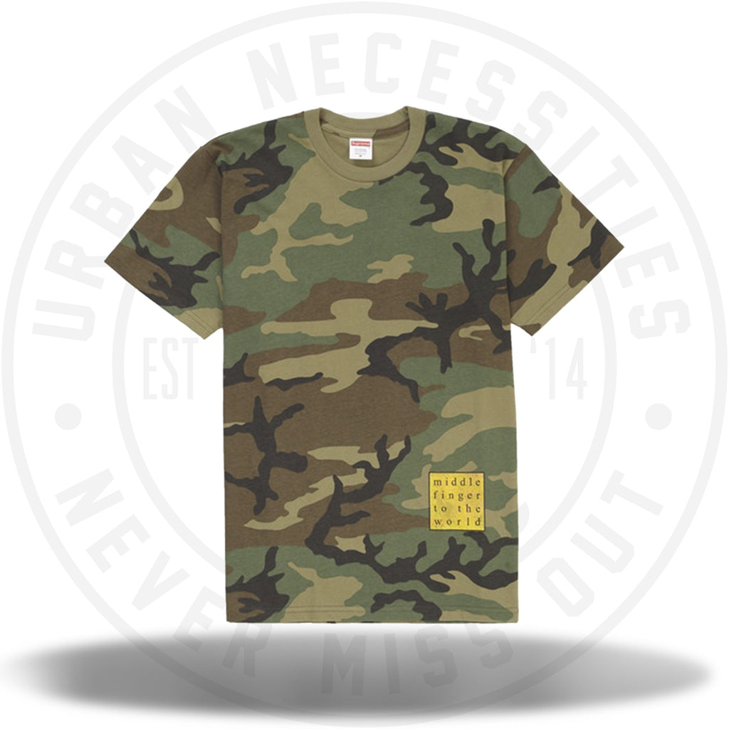 Supreme Middle Finger to the World Tee Woodland Camo-Urban Necessities