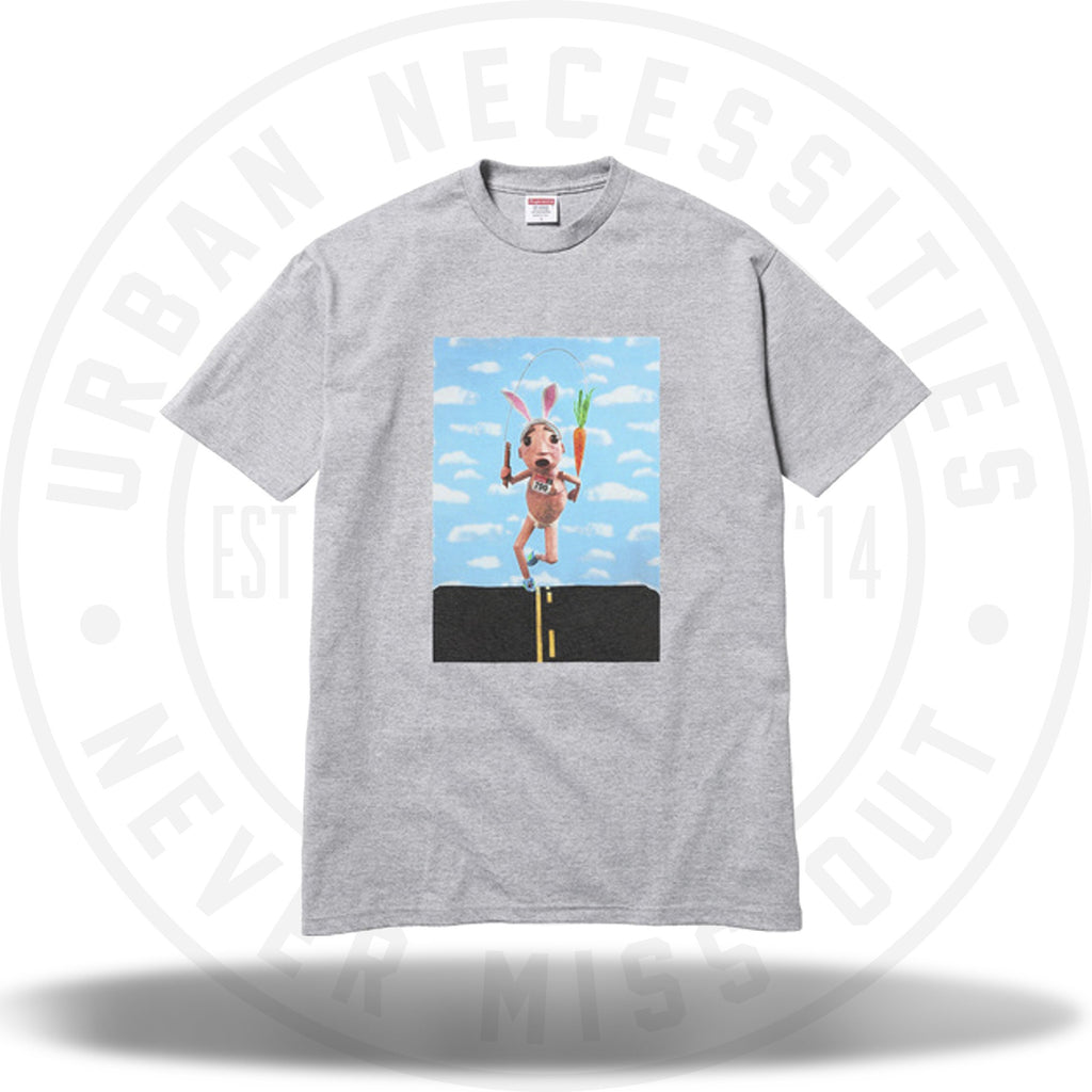 Supreme Mike Hill Runner Tee Heather Gray-Urban Necessities