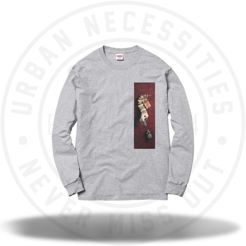 Supreme Mike Hill Snaketrap L/S Tee Grey-Urban Necessities