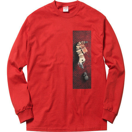 Supreme Mike Hill Snaketrap L/S Tee Red-Urban Necessities