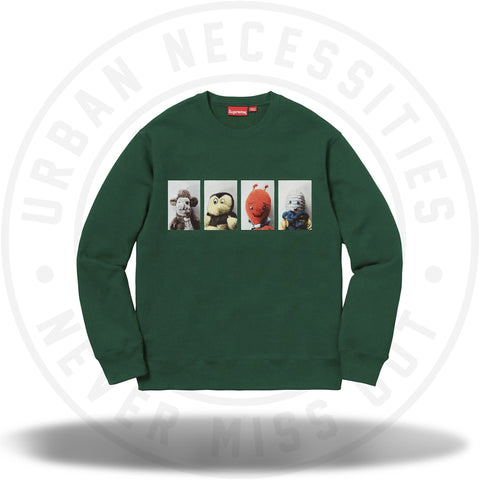 Supreme Mike Kelley AhhYouth! Crewneck Sweatshirt Dark Green-Urban Necessities