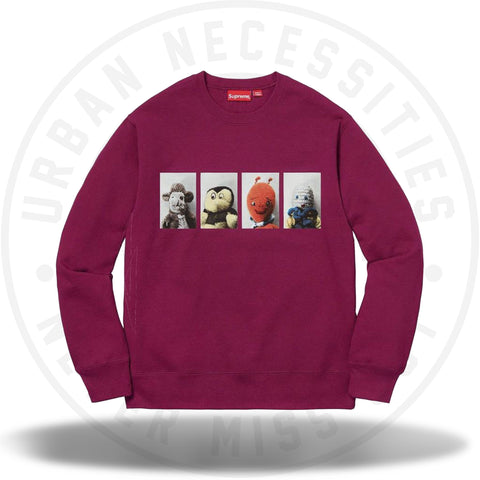 Supreme Mike Kelley AhhYouth! Crewneck Sweatshirt Dark Magenta-Urban Necessities