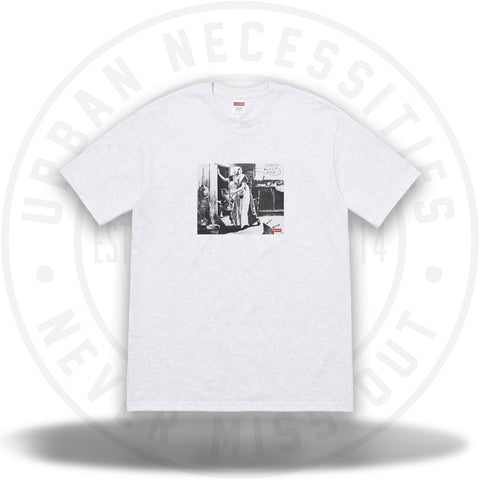 Supreme Mike Kelley Hiding From Indians Tee Ash Grey-Urban Necessities
