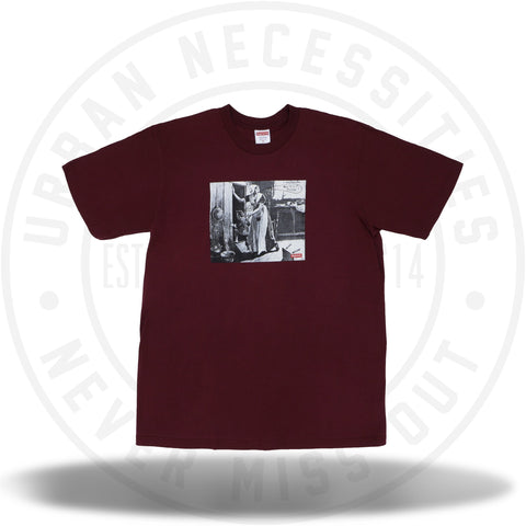 Supreme Mike Kelley Hiding From Indians Tee Burgundy-Urban Necessities