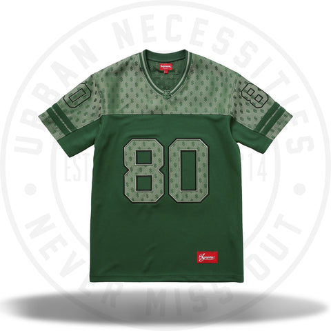 Supreme Monogram Football Jersey Dark Green-Urban Necessities