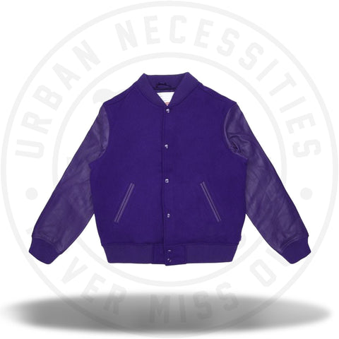Supreme Motion Logo Varsity Jacket Purple-Urban Necessities