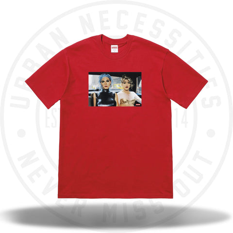 Supreme Nan Goldin Misty and Jimmy Paulette Tee Red-Urban Necessities