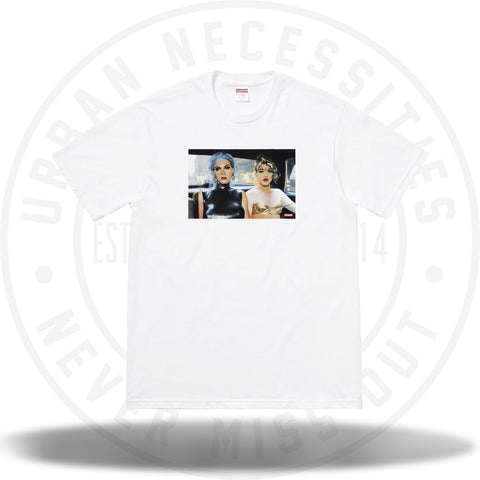 Supreme Nan Goldin Misty and Jimmy Paulette Tee White-Urban Necessities