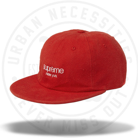 Supreme Napped Canvas Classic Logo 6-Panel Red-Urban Necessities