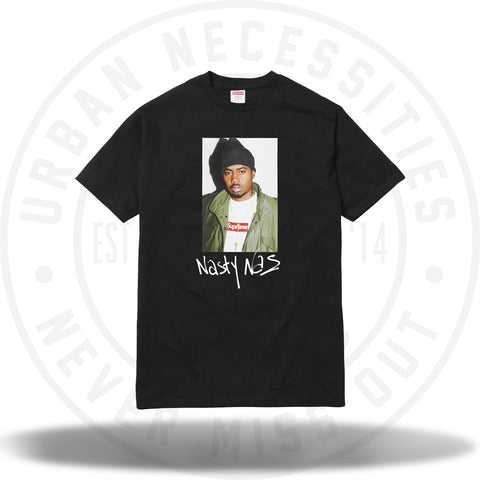 Supreme Nas Tee Black-Urban Necessities