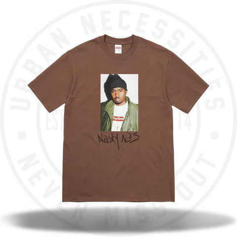 Supreme Nas Tee Brown-Urban Necessities