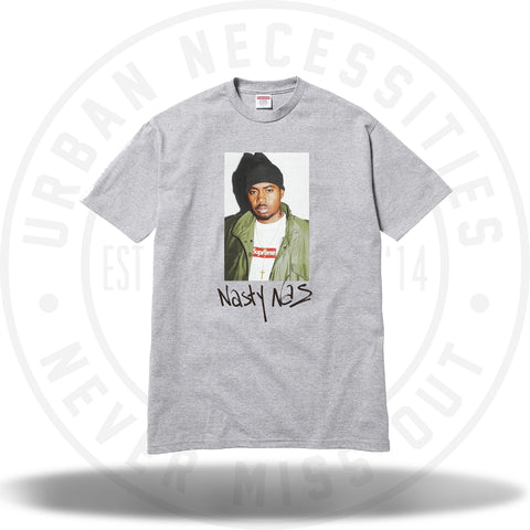 Supreme Nas Tee Grey-Urban Necessities